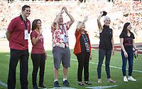 Stanford, CA - September 21, 2019: Mark Madsen, Diane Morrison Shropshire, Bill Tarr Jr, Deanna Tarr, Susan Hagy Wall, Tabitha Yim at Stanford Stadium. The Stanford Cardinal fell to the Oregon Ducks 21-6.