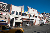 The former home of H&H Bagels in the Hell's Kitchen neighborhood of New York  on Tuesday, February 28, 2012. The two-store, 12,500 square-foot building was a major asset of the bankrupt Third Toro Family Limited Partnership, the owner of the property, and was sold at auction for $11 million in the beginning of February. ( © Richard B. Levine)