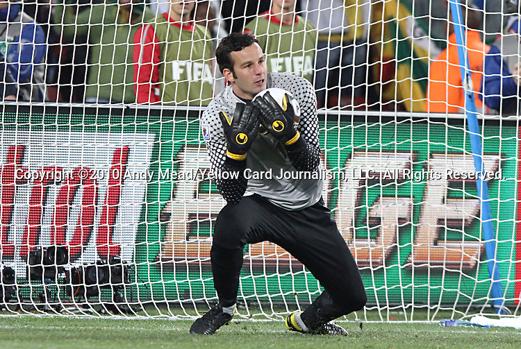 18 JUN 2010:  Samir Handanovic (SVN)(1).  The Slovenia National Team tied the United States National Team 2-2 at Ellis Park Stadium in Johannesburg, South Africa in a 2010 FIFA World Cup Group C match.