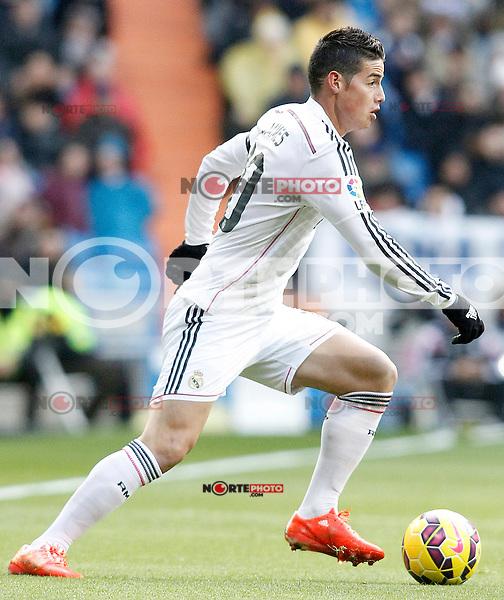 Real Madrid's James Rodriguez during La Liga match.January 31,2015. (ALTERPHOTOS/Acero) /NortePhoto<br /> /NortePhoto.com