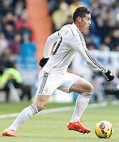 Real Madrid's James Rodriguez during La Liga match.January 31,2015. (ALTERPHOTOS/Acero) /NortePhoto<br />