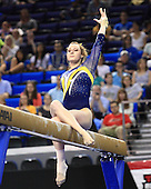 The University of Michigan women's gymnastics team at the NCAA Championship Event Finals (Joanna Sampson won on floor; Katie Zurales was runner-up on beam) at Pauley Pavilion, in Los Angeles, Calif., on April 21, 2013.