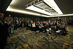 09 December 2016:  A large group of media attended the address. MLS Commissioner Don Garber held his annual Major League Soccer State of the League Address and press conference one day before MLS Cup 2016. The address was held in the ballroom at the Intercontinental Hotel in Toronto, Ontario in Canada.