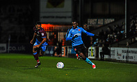 Fleetwood Town's defender Amari'i Bell (3) breaks down the left during the Sky Bet League 1 match between Scunthorpe United and Fleetwood Town at Glanford Park, Scunthorpe, England on 17 October 2017. Photo by Stephen Buckley/PRiME Media Images