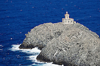 An old lighthouse in Tinos island, Greece