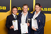 Girls Swimming finalists Rima Williams, Caroline Baddock and Georgia Wetzell. ASB College Sport Young Sportsperson of the Year Awards held at Eden Park, Auckland, on November 24th 2011.