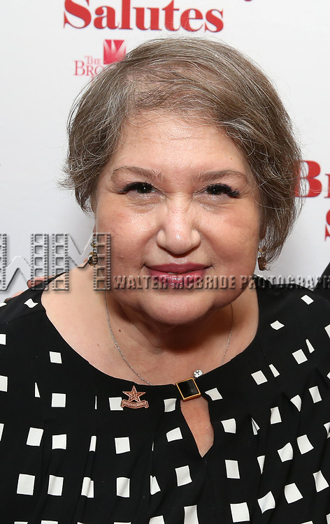 Suzanne Tobak attends Broadway Salutes 10 Years - 2009-2018 at Sardi's on November 13, 2018 in New York City.