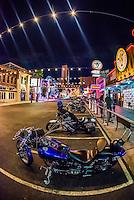 Outside Hogs & Heifers biker bar, Downtown Las Vegas, Nevada USA.