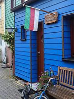 Wohnhaus Koksen Goat 83 im Unterland, Insel Helgoland, Schleswig-Holstein, Deutschland, Europa<br /> House Koksen Goat 83, Unterland, Helgoland island, district Pinneberg, Schleswig-Holstein, Germany, Europe