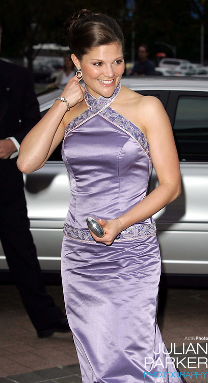 Crown Princess Victoria of Sweden visits Australia..Royal Gala Dinner at the National Gallery of Victoria, Melbourne..