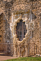 The Rose Window at Mission San Hose at the San Antonio Missions National Historic Park.