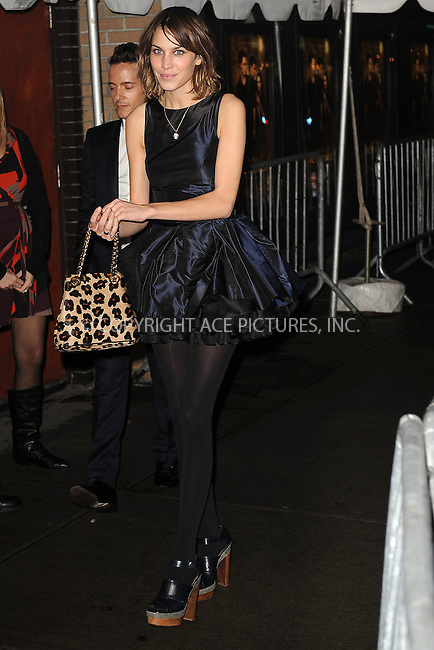 WWW.ACEPIXS.COM . . . . . ....November 19 2009, New York City....Alexa Chung arriving at The Cinema Society and D&G screening of THE TWILIGHT SAGA: NEW MOON at Landmark's Sunshine Cinema on November 19, 2009 in New York City.....Please byline: KRISTIN CALLAHAN - ACEPIXS.COM.. . . . . . ..Ace Pictures, Inc:  ..(212) 243-8787 or (646) 679 0430..e-mail: picturedesk@acepixs.com..web: http://www.acepixs.com