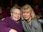 Edith Brookes and Marie Young pictured at Collon senior citizens christmas party at Watters lounge. Photo:Colin Bell/pressphotos.ie