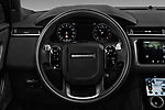 Car pictures of steering wheel view of a 2018 Land Rover Range Rover Velar R-Dynamic SE 5 Door SUV