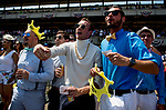 ELMONT, NY - JUNE 09: Fans cheer for their pick on Belmont Stakes Day at Belmont Park on June 9, 2018 in Elmont, New York. (Photo by Scott Serio/Eclipse Sportswire/Getty Images)