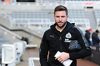 Paul Dummett of Newcastle United arrives at St James' Park during Newcastle United vs Manchester United, Premier League Football at St. James' Park on 11th February 2018