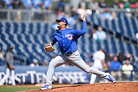 ***Temporary Unedited Reference File***Iowa Cubs relief pitcher Giovanni Soto (43) during a game against the Nashville Sounds on May 4, 2016 at First Tennessee Park in Nashville, Tennessee.  Iowa defeated Nashville 8-4.  (Mike Janes/Four Seam Images)