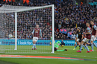 Sergio Aguero of Manchester City score the opening goal during Aston Villa vs Manchester City, Caraboa Cup Final Football at Wembley Stadium on 1st March 2020
