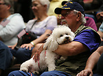 Bill Johnson and his dog Coco participate in the 4th annual Veterans Suicide Awareness March at Western Nevada College, in Carson City, Nev., on Saturday, May 5, 2018. <br /> Photo by Cathleen Allison/Nevada Momentum
