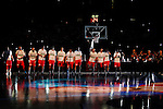 Serbia´s players before FIBA Basketball World Cup Spain 2014 final match between United States and Serbia at `Palacio de los deportes´ stadium in Madrid, Spain. September 14, 2014. (ALTERPHOTOSVictor Blanco)