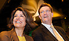 Liberal Democrats<br /> Autumn Conference 2011 <br /> at the ICC, Birmingham, Great Britain <br /> <br /> 17th to 21st September 2011 <br /> <br /> <br /> Miriam Gonzalez Durantez &amp; Rt Hon Danny Alexander MP <br /> watching Nick Clegg's speech <br /> <br /> <br /> Rt Hon Nick Clegg MP<br /> Leader of the Liberal Democrats<br /> Deputy Prime Minister<br /> Speech <br /> <br /> Photograph by Elliott Franks