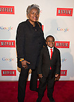 """WASHINGTON, DC - MAY 2: Vice Chairwoman of the Democratic National Committee Donna Brazil and """"Kid President' Robby Novak attending the Google and Netflix party to celebrate White House Correspondents' Dinner on May 2, 2014 in Washington, DC. Photo Credit: Morris Melvin / Retna Ltd."""