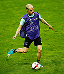 Davy Klaassen of Ajax trains ahead of the UEFA Europa League Final at the Friends Arena, Stockholm. Picture date: May 23rd, 2017. Pic credit should read: Matt McNulty/Sportimage