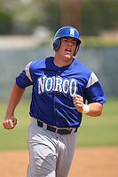 April 13 2009: Matt Hobgood of Norco High School during a high school game in Fullerton,CA.  Photo by Larry Goren/Four Seam Images