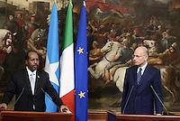 Roma, 18 Settembre 2013<br /> Palazzo Chigi<br /> Incontro tra il Presidente del Consiglio dei Ministri, Enrico Letta, e il Presidente della Repubblica Federale della Somalia, Hassan Sheikh Mohamud.