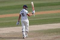 Nick Browne of Essex raises his bat to celebrate reaching his fifty during Essex CCC vs Somerset CCC, Specsavers County Championship Division 1 Cricket at The Cloudfm County Ground on 28th June 2018