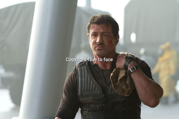 Barney Ross (Sylvester Stallone) in The Expendables 2 (German title: THE EXPENDABLES 2)...- Editorial Use Only -..Supplied by face to face