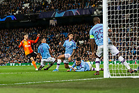 Manor Solomon of Shakhtar Donetsk celebrates scores his side's first goal to equalise and make the score 1-1 during the UEFA Champions League Group C match between Manchester City and Shakhtar Donetsk at the Etihad Stadium on November 26th 2019 in Manchester, England. (Photo by Daniel Chesterton/phcimages.com)