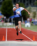 John Blemmings, of Las Vegas, competes in the long jump event the Special Olympics Nevada 2013 Summer Games in Reno, Nev., on Saturday, June 1, 2013. <br /> Photo by Cathleen Allison