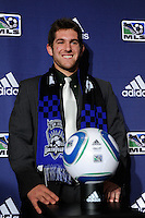 San Jose Earthquakes second round pick Michael Thomas (Notre Dame) during the MLS SuperDraft at the Pennsylvania Convention Center in Philadelphia, PA, on January 14, 2010.