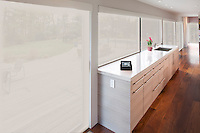 Motorized shades in the Kitchen