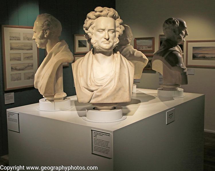 Marble bust John Hugh Smyth-Pigot (1792-1853), by Charles Summers c1852, Weston-super-Mare museum, Somerset, England, UK