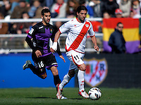Real Valladolid's LLuis Sastre and Rayo Vallecano's Dominguez during La Liga  match. February 24,2013.(ALTERPHOTOS/Alconada)