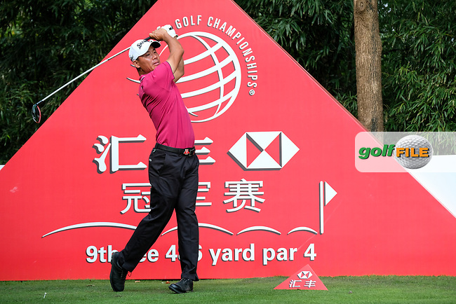 Ashun Wu (CHN) on the 9th during round 2 of the 2017 WGC HSBC Champions, Sheshan International Golf Club, Shanghai, China PR. 27/10/2017<br /> Picture: Golffile | Fran Caffrey<br /> <br /> <br /> All photo usage must carry mandatory copyright credit (&copy; Golffile | Fran Caffrey)