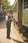 Essex, CT Steam Train excursion. Conductor. All aboard.
