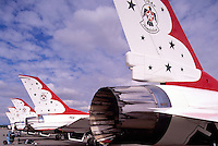 Abbotsford International Airshow, BC, British Columbia, Canada - Thunderbirds US Air Force F-16 Fighter Jet Aircraft on Display
