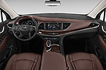 Stock photo of straight dashboard view of a 2018 Buick Enclave Avenir 5 Door SUV