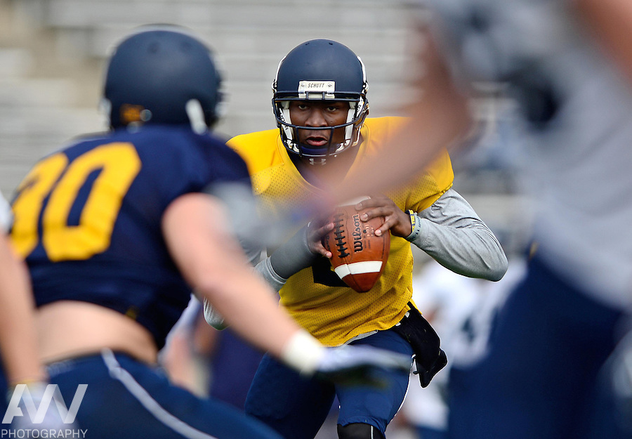 Aug 15, 2012; Toledo, OH, USA; Toledo Rockets quarterback Terrance Owen (2) during practice at the Glass Bowl. Mandatory Credit: Andrew Weber-US Presswire