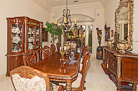 Stock photo of residential dining room