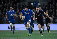 France's Kelian Galletier in action during the Steinlager Series international rugby match between the New Zealand All Blacks and France at Forsyth Barr Stadium in Wellington, New Zealand on Saturday, 23 June 2018. Photo: Dave Lintott / lintottphoto.co.nz