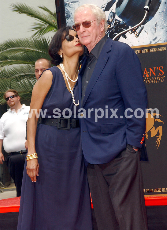 **ALL ROUND PICTURES FROM SOLARPIX.COM**.**SYNDICATION RIGHTS FOR UK, SPAIN, PORTUGAL, AUSTRALIA, S.AFRICA & DUBAI (U.A.E) ONLY**.The British actor Sir Michael Caine To Be Honoured With Hand And Footprint Ceremony at the Grauman Chinese Theatre in Hollywood California in the USA...JOB REF:6809-PHZ/Albert L. Ortega    DATE: 11_07_08.**MUST CREDIT SOLARPIX.COM OR DOUBLE FEE WILL BE CHARGED* *UNDER NO CIRCUMSTANCES IS THIS IMAGE TO BE REPRODUCED FOR ANY ONLINE EDITION WITHOUT PRIOR PERMISSION*