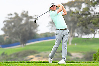 26th January 2020, Torrey Pines, La Jolla, San Diego, CA USA; Tom Hodge tees off on the 5th hole on the South Course during the final round of the Farmers Insurance Open golf tournament at Torrey Pines Municipal Golf Course on January 26, 2020.