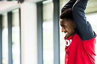 Leroy Fer  works out in the gym during the Swansea City training session at The Fairwood training Ground, Swansea, Wales, UK. Wednesday 13 September 2017