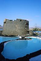 Watchtower Calleta de Fuste,Fuerteventura, Canary Islands,water,pool