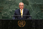 General Assembly Seventy-fourth session, 5th plenary meeting<br /> <br /> His Excellency Scott Morrison, Prime Minister, Commonwealth of Australia