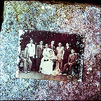 Sarah Cohen's wedding picture. Sarah was alienated by her community of the 'White Jews of Cochin' when she went against the norm and married a 'Black Jew', an Indian jewish man from Cochin. The White Jews were strictly allowed only to marry fair-skinned Ashkenazi jews, a practice that sealed their fate as a dying community in India. Photo by Suzanne Lee